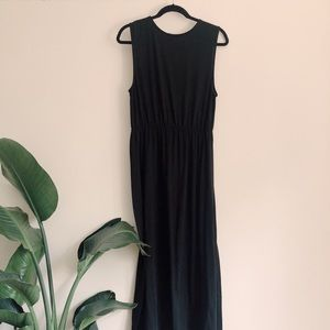 Black Basic Maxi H&M Dress